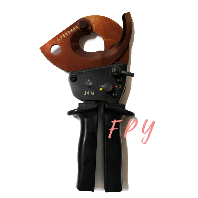 Tools : Ratchet cable cutter for cutting max 300mm2 Cu Alu cable J40A
