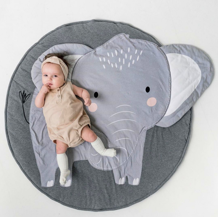 Round Carpet Blanket Room-Decoration Cotton Swan Baby Kids for INS Gifts Rugs-Mat Crawling