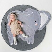 90 см детские коврики для игр, круглые Ковровые Коврики, Хлопковое одеяло для ползания лебедей, ковер для детской комнаты, украшение INS, детские подарки