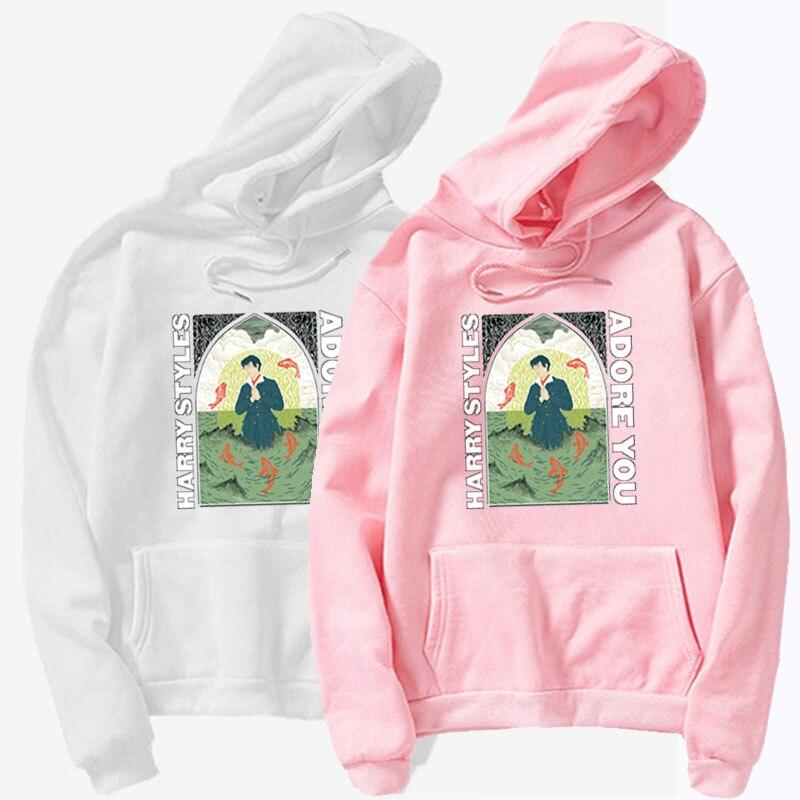 2021 adore you poster hoodie ladies casual hip hop sweatshirts fleece men and women hoodie coat jacket