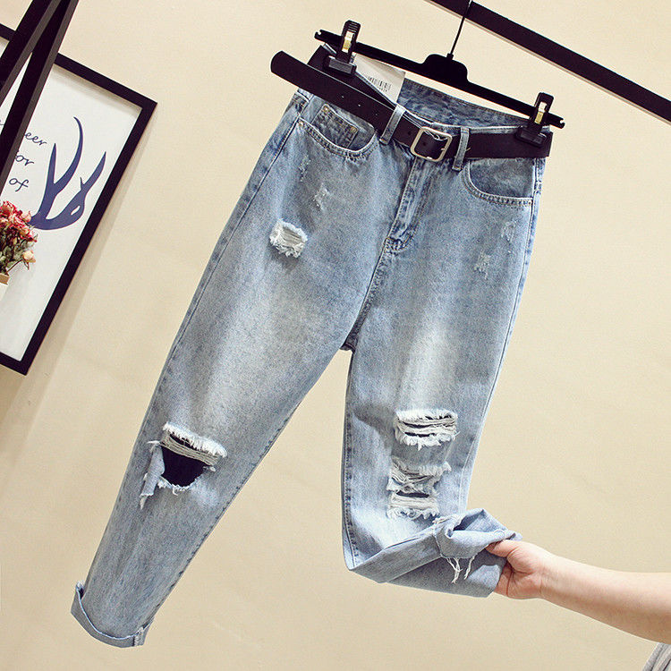 Fa1001-1 2019 New Autumn Winter Women Fashion Casual  Denim Pants Womens Jeans High Waisted Jeans