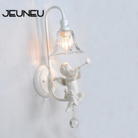 Bathroom Vanity Lights Fashional Modern White Angel Wall Lamp White Wall Light E14 AC 110V 220V Lighting Fixture Wall Decoration