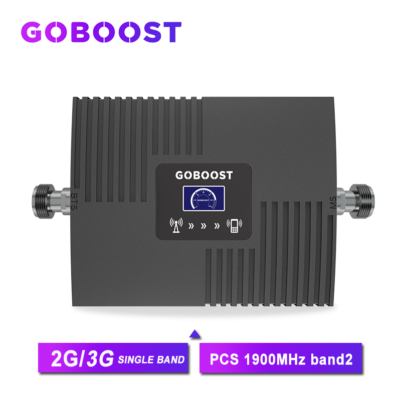 Repeater 1900 3G Booster Signal 2G GSM Cellular Signal Booster PCS 1900MHZ For Mobile Phones Band2 With LCD Display Mini NEW *
