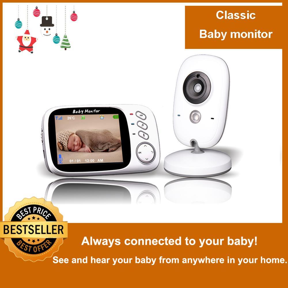 "Video Baby Monitor Camera 2-Way Talk 2.4/"" Digital Wireless Night Vision LCD MY"