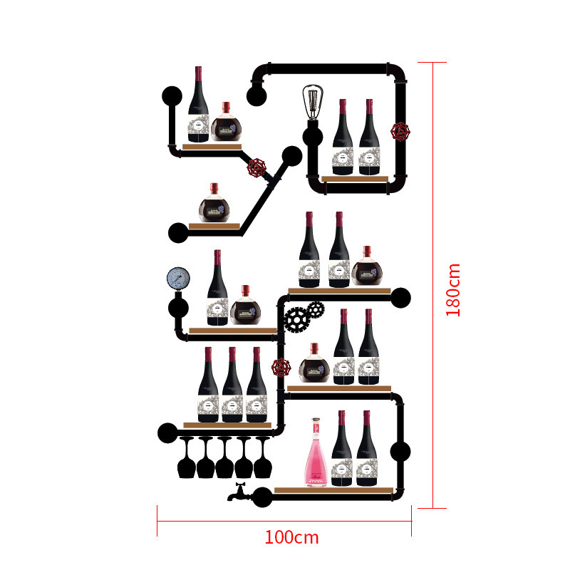 European-style Wine Rack Wine Bottle Display Stand Rack Organizer High Qualit Mimimalist Glassware Organizer CF