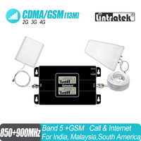 LCD Display GSM 900 CDMA 850mhz Dual Band Signal Repeater 2G 3G UMTS 65dB Cellphone Cellular Signal Booster Amplifier Set