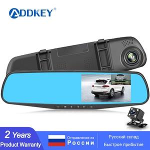 ADDKEY Full HD 1080P Car Dvr Camera Auto 4.3 Inch Rearview Mirror dash Digital Video Recorder Dual Lens Registratory Camcorder