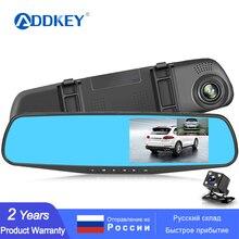Addkey Full Hd 1080P Auto Dvr Camera Auto 4.3 Inch Achteruitkijkspiegel Dash Digitale Video Recorder Dual Lens Registratory camcorder