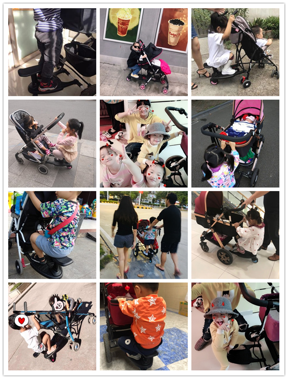 Segundo Filho Pedal Crianças Placa de Pé Com Assento
