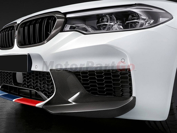 For 5 Series Carbon Fiber Front Lip Splitters Flaps Corner Covers For BMW F90 M5 2018 -2019 MP Style Bumper Trim Protector B530 1
