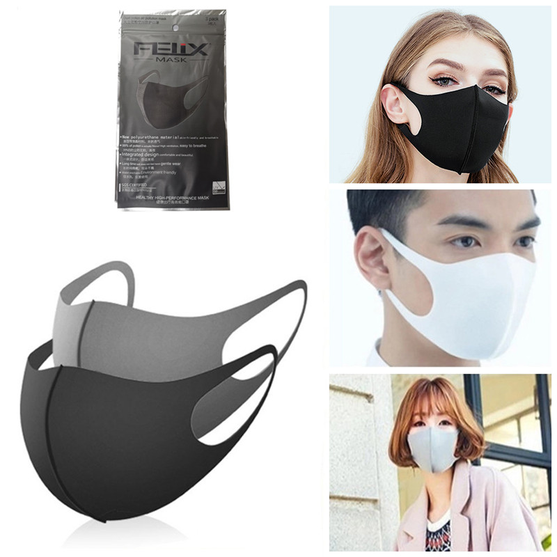 3pcs Cotton Breathable Mouth Mask Reusable Anti-pollution Mask Unisex Child Dustproof Mouth-muffle Washable Dust Proof Face Mask