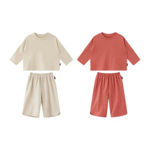 2019 Fashion New Autumn Solid Color Loose Suit For Children Girls Comfort Middle Child 3 Korean Clothing Set Hot