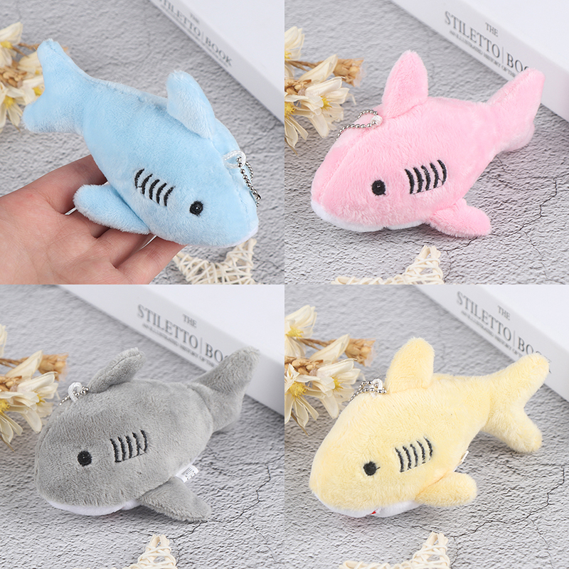 12CM , <font><b>Key</b></font> <font><b>chain</b></font> Gift Shark <font><b>Plush</b></font> Stuffed <font><b>TOY</b></font> DOLL , Kid's Small Mini <font><b>Plush</b></font> <font><b>Toys</b></font> image
