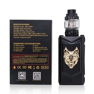 Image 5 - オリジナルsnowwolf mfeng 200ワットボックスmod蒸気を吸うキット6ミリリットルタンクwf 0。2ohm/0.16ohmコイルと1.3インチtftディスプレイ電子タバコキットvs pasito