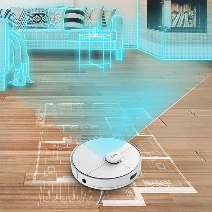 360 S5 جهاز آلي لتنظيف الأتربة ذكي منظفات 2000PA الليزر والملاحة يدار ممسحة التلقائي تغذى Aspirador للمنزل