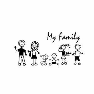 PLAY COOL Family My Mom Kid Baby Cat Dog, стикер для автомобиля, автомобильные мотоциклы, внешние аксессуары, виниловые наклейки, 20 см * 9,9 см