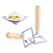 Классический итальянский квадратный резак для макаронных изделий кухонный инструмент для изготовления макаронных изделий пельмень Штамп Резак с пляжной деревянной ручкой