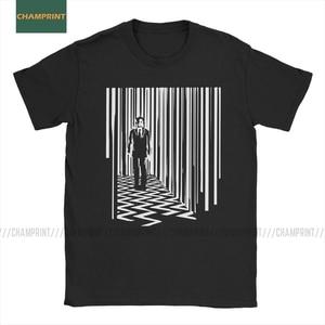 Men Black Lodge Twin Peaks David Lynch T Shirt Film Movie Directed Director Pure Cotton Short Sleeve Tee Shirt Adult T-Shirt