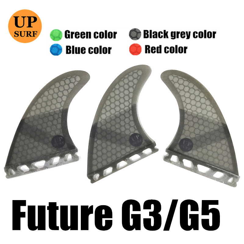 Future Fins G5/G3 Honeycomb Fiberglass Fins Surfing Paddling Surfboard Fin Pure Color Fins  3pc per set Quilhas