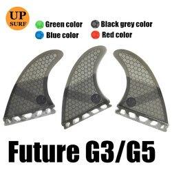 Future Fins G5/G3 Honeycomb Fiberglass Fins Surfing Paddling Surfboard Fin Pure Color Fins  3pc per set Quilhas