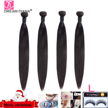 """DreamDiana Indian Hair Straight 1/3/4 Bundles 8 30"""" Remy Weaving Hair Bundles Natural Color 100% Human Hair Extensions Low Ratio"""