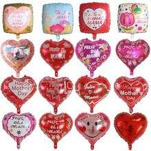 5 pçs 18 polegada forma do coração impresso espanhol balões da folha de mãe dia das mães hélio amor globos decoração mama balão presentes balaos