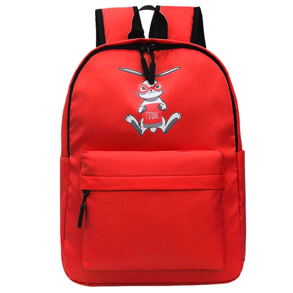 Maison Fabre sac à dos femmes grande capacité multi-fonction sac d'école lapin impression sac à dos en plein air Campus voyage sac à dos