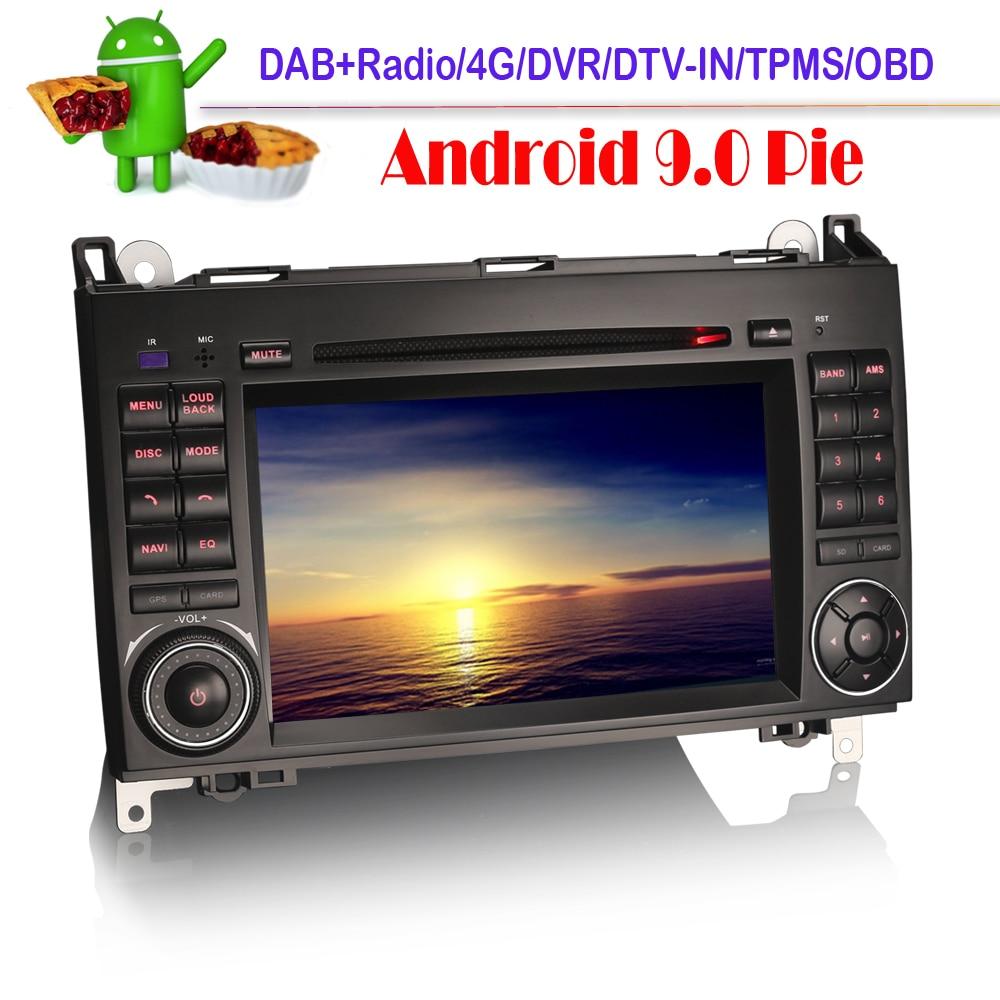 DAB+Autoradio Android 9.0 para Mercedes Classe A//B Vito Sprinter Viano W169 W245