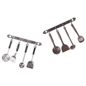 1 Set 1/12 Puppenhaus Miniatur Küche Kochen Utensilien Tool Pretend Spielen Decor Puppe Lebensmittel Spielzeug