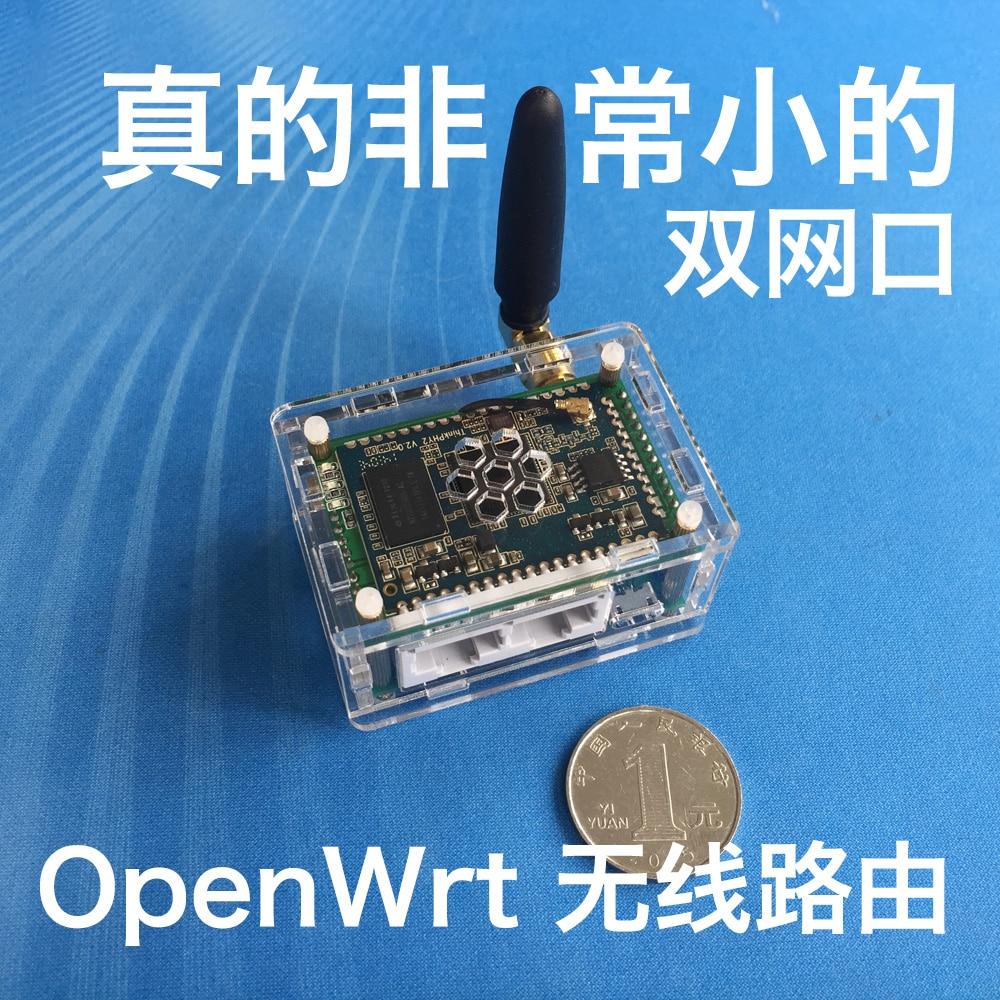 Mini AR9331 Dual Network Port OpenWrt Wireless Router USB Compatible 703N GL