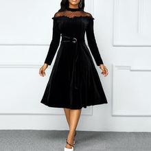 Женское бархатное платье туника миди винтажное лоскутное размера