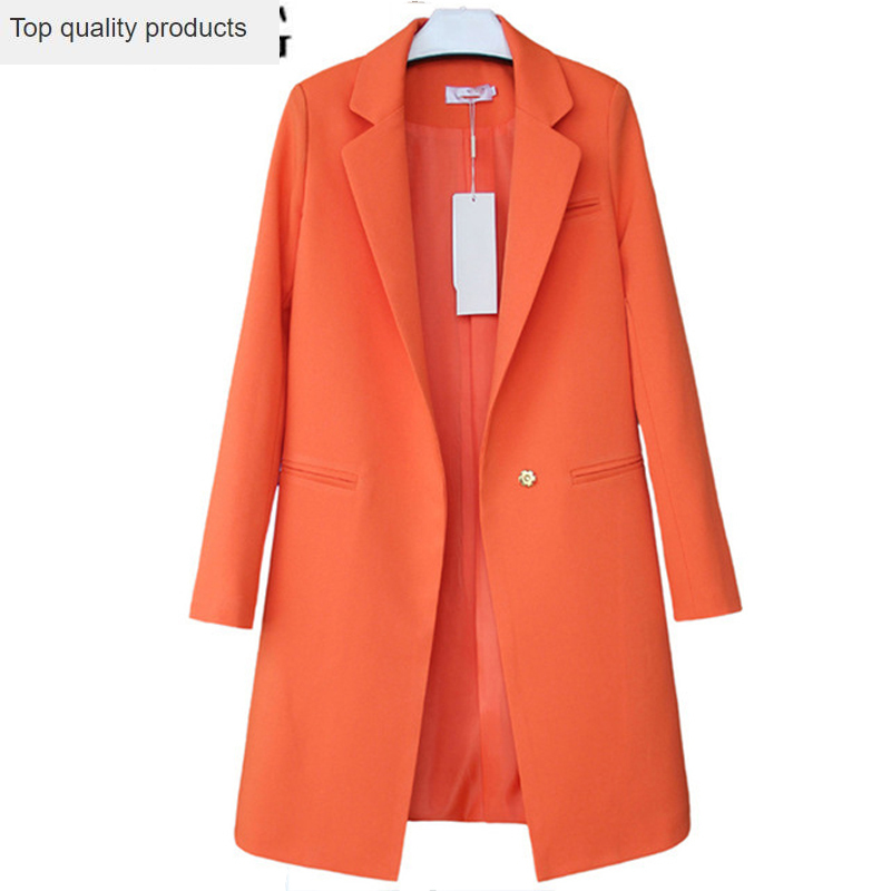Plus Size New 2020 Spring Autumn Business Suit Women Blazers Jackets Casual Long Sleeve One Button Lady Blazers Work Wear LX31