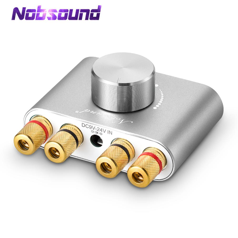 Nobsound Mini Bluetooth 5.0 Digital Amplifier Hifi Stereo Home Audio TPA3116 Power Amp 50W+50W Sound Car Amplifiers