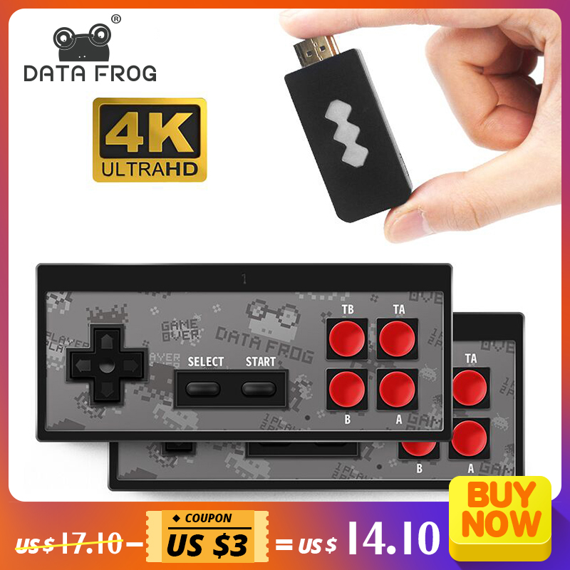 Data Frog USB Wireless Handheld TV Video Game Console Build In 600 Classic Game 8 Bit Mini Video Console Support AV/HDMI Output|Video Game Consoles|   - AliExpress