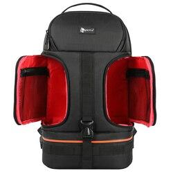 Водонепроницаемый рюкзак для видеокамеры DSLR, чехол для штатива с отражающей полосой, подходит для 15,6 дюймов, сумка для ноутбука Canon, Nikon, Sony, ...