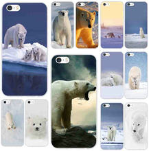 Soft Silicone Phone Case for iPhone X XR XS Max 10 7 6 6s 8 Plus 4 4S 5 5S SE 5C Lovely Animal White Polar Bear(China)