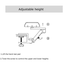 Mouse Computer Bracket Arm Wrist Hand Rest Support Desk Table Armrest Stand GV99