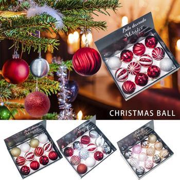12 sztuk boże narodzenie dekor w kształcie drzewa piłka boże narodzenie Party wiszące ozdobne bombki na boże narodzenie drzewo nietłukące boże narodzenie dekor w kształcie drzewa acje tanie i dobre opinie 12SZT Christmas ball