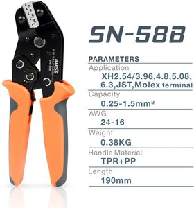 Image 2 - EDM JAW SN 58B=SN 28B+SN 48B crimp plier Suitable for DuPont 2.54/2.8/3.96/4.8/6.3 Plug Spring Terminal Crimping Pliers