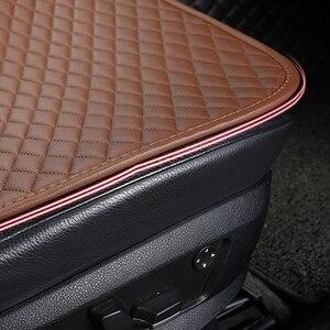 Image 5 - Cojín de cuero Artificial para asiento de coche, funda Universal resistente al desgaste, resistente al agua, 3 colores