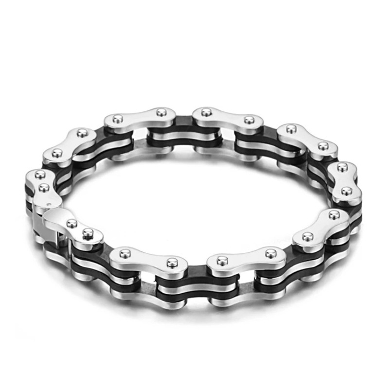 New Design Punk Stainless steel Bracelet For Man Motorcycle Bike Bicycle Chain Jewelry Bangle Popular style Friendship Gift