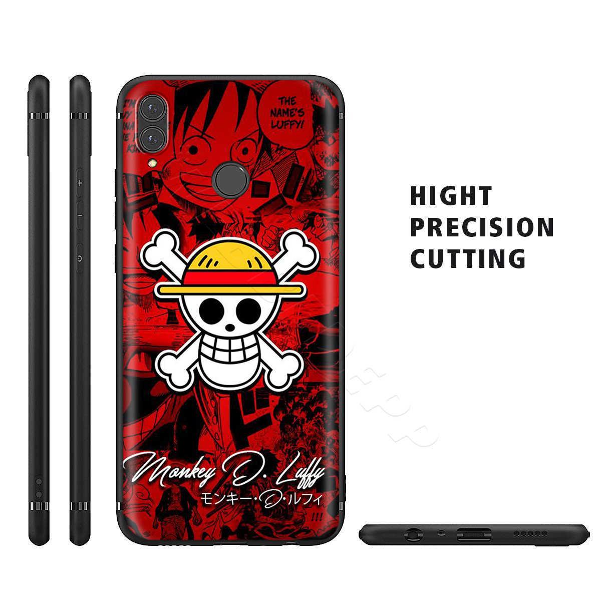 Webbedepp Pirati One Piece per Il Caso di Huawei P8 P9 P10 P20 P30 Lite Pro P Smart Z 2019 2019 Mini