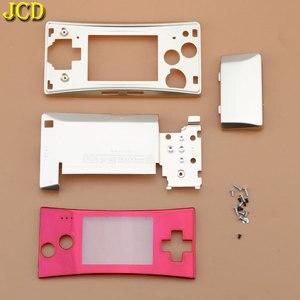 Image 3 - Jcd 4 in 1 금속 하우징 쉘 케이스 nintend gameboy micro gbm 전면 후면 커버 페이스 플레이트 배터리 홀더 (나사 포함)