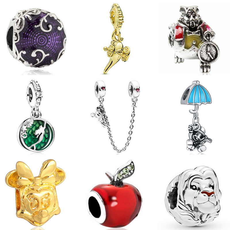 2019 New Original Alloy Beads Mickey Minnie Fairytale Dumbo Love Charm Fit Pandora Bracelets Bangle Necklaces DIY Women Jewelry