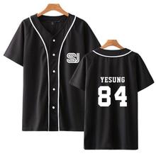 Super junior Short Sleeved Baseball T shirt Harajuku Women/M