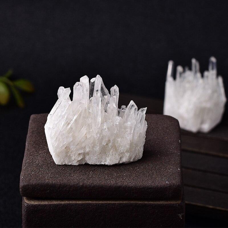 1 pc cristal natural cluster raw quartzo branco reiki cura pedras ponto de cristal espécime casa decoração cristais crus minerales