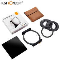 K&F Concept Square Filter ND1000 100x100mm 10 Stop Neutral Density with Filter Holder+7PCS Ring Addapters for Canon Nikon Camera