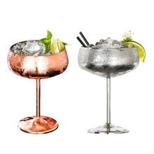 304 нержавеющая Dteel яркий медный покрытие шампанского стекло вечерние чашки с широким ртом белого шампанского Coupes коктейльное стекло