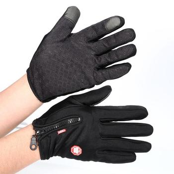 Outdoor Winter Windstopper Gloves Full Finger Gloves Men Women Touch Screen Gloves Bicycle Gloves Winter Warm Mittens 7