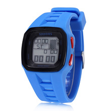 Shhors Watches Men Led Digital Electronic Watches Men Sports Watches Waterproof Rubber Watches Reloj Hombre montre homme relogio cheap WOONUN 25cm Resin Buckle 3Bar 16mm Square 26mm Shhors watch 1662215 No package 41mm Glass Stop Watch Back Light LED display